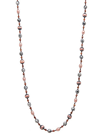 Chocolate finish bead necklace by Lane Bryant