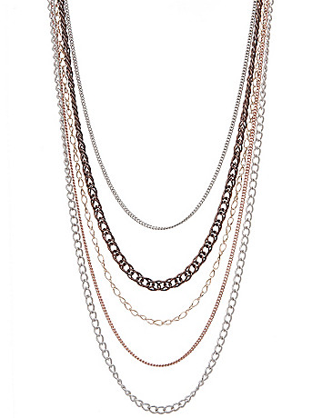 Long multi chain necklace by Lane Bryant