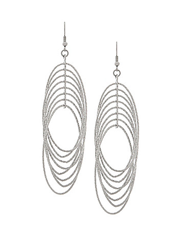 Dusted silvertone drop earrings by Lane Bryant