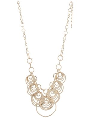 Goldtone hammered necklace by Lane Bryant