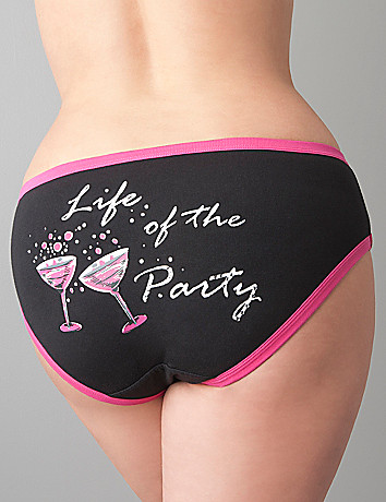 Life of the Party cotton hipster panty by Cacique