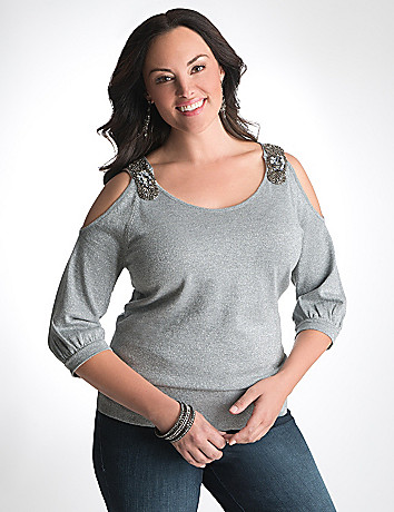 Plus Size Embellished Sweater by Lane Bryant