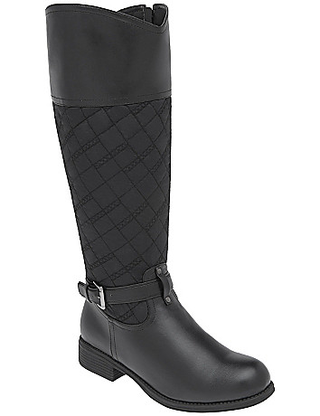 Quilted riding boot by Lane Bryant