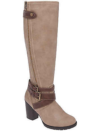 Zip & buckle boot by Lane Bryant
