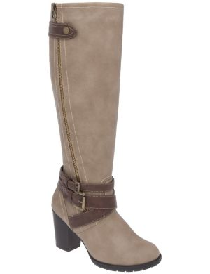 Zip & buckle boot