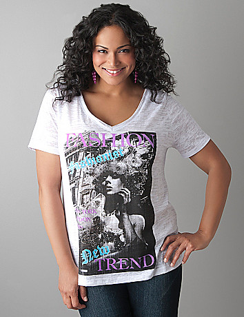 Fashion burnout tee by Lane Bryant