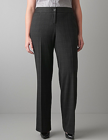Windowpane patterned trouser by Lane Bryant
