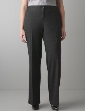 Windowpane patterned trouser