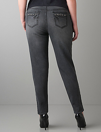 Studded skinny jean by Lane Bryant