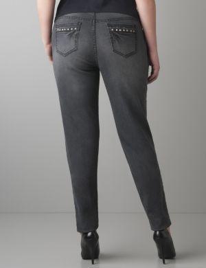 Studded skinny jean