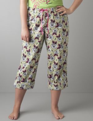 Rose dots woven sleep pant