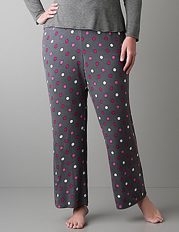 Full Figure Polka Dot Sleep Pant by Cacique
