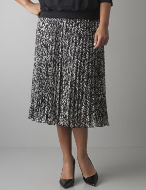 Abstract dots circle skirt