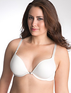 Solid reversible plunge bra by Cacique