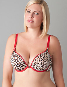 Solid & animal print reversible plunge bra