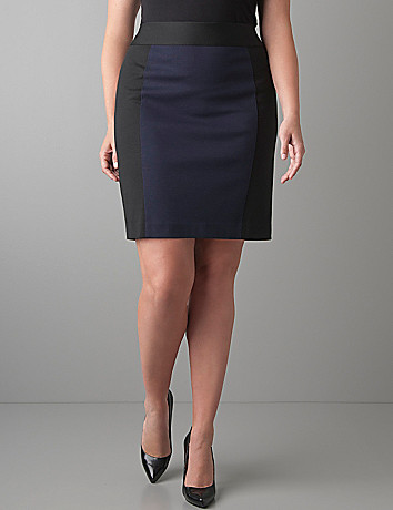 Colorblock pencil skirt by Lane Bryant