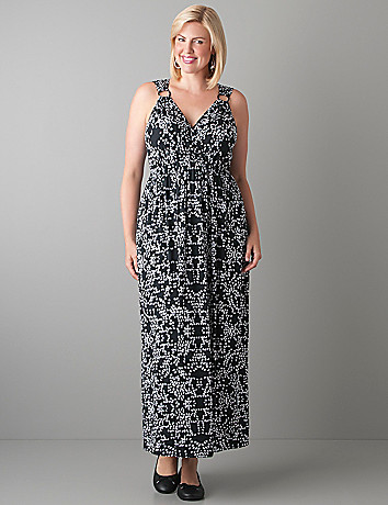 Ring strap maxi dress by Lane Bryant