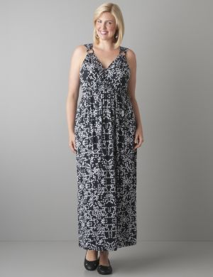 Ring strap maxi dress