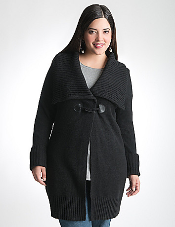 Plus Size Toggle Cardigan by Lane Bryant