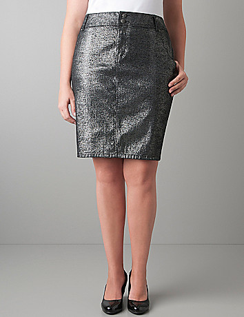 Sparkle denim pencil skirt by Lane Bryant