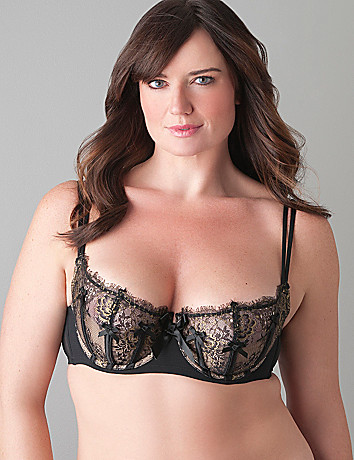 Sparkle Lace French Balconette Bra
