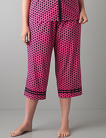 Polka dot sleep crop by Cacique