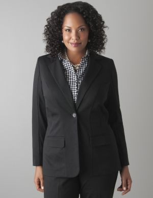 Single button ponte blazer