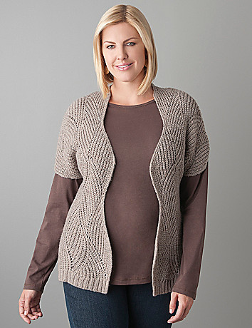 Plus Size Textured Cardi by Lane Bryant