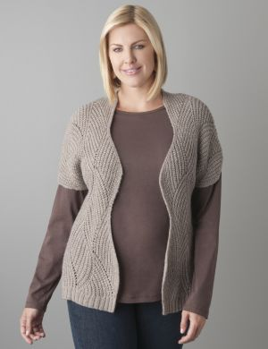 Textured scalloped cardigan