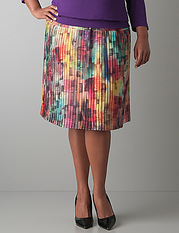 Plus Size Pleated Skirt by Lane Bryant