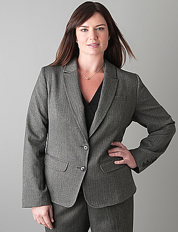 Herringbone jacket by Lane Bryant