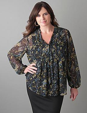 Pintuck Shirt Dress Plus Size Plus Size Paisley Pintuck