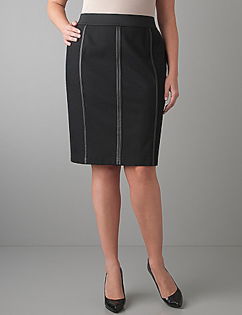 Pleather seamed pencil skirt by Lane Bryant