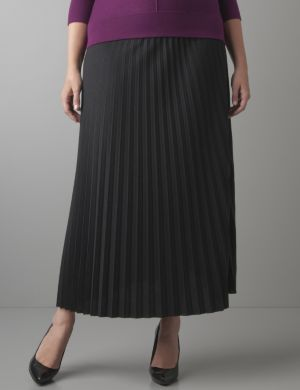 Knife pleat long skirt