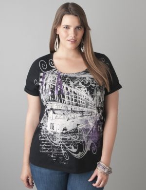 Embellished bus tee