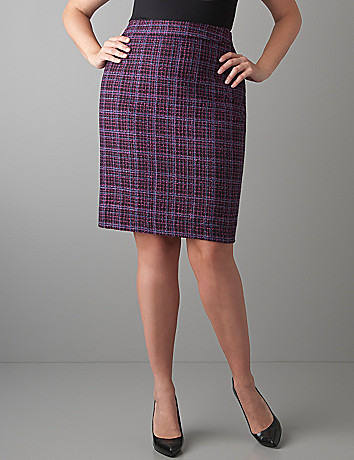 Boucle pencil skirt by Lane Bryant