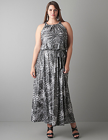 Shimmering snake maxi dress by Lane Bryant