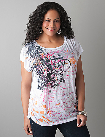 Chandelier embellished tee by Lane Bryant