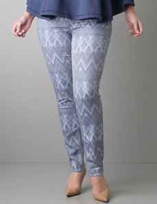 Plus Size Printed skinny jean by Lane Bryant