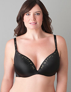Studded Cushion Comfort plunge bra