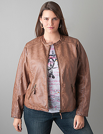Faux leather jacket by Lane Bryant
