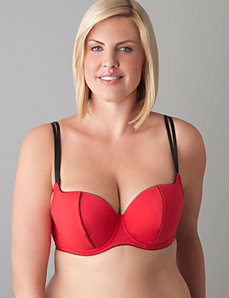 Santa balconette bra with optional feather trim