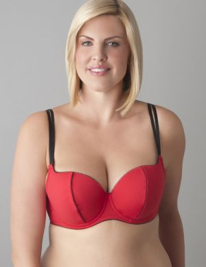 Balconette bra with optional feather trim