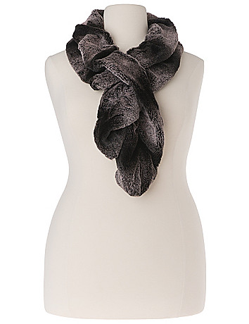 Faux Chinchilla Fur Scarf by Lane Bryant