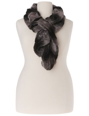 Faux chinchilla fur scarf