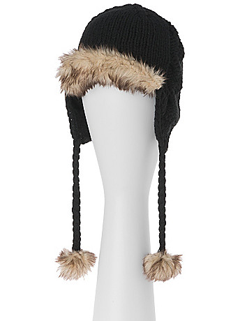 Faux Fur Winter Hat by Lane Bryant