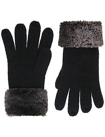 Chinchilla Trim Glove by Lane Bryant