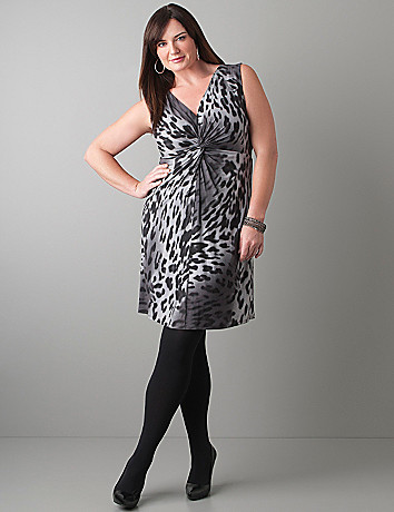Twist front leopard dress by Lane Bryant