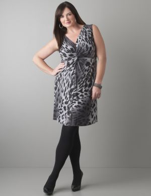 Twist front leopard dress