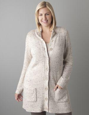 Funnel neck sweater coat